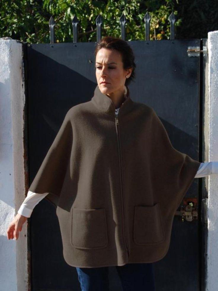 Cape coat, Pdf Sewing Pattern for Women.