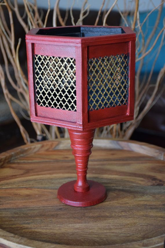 Handmade Red and Gold Vase by ThadamCreativeDesign on Etsy