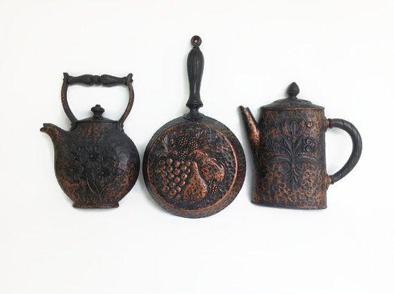 Original  S D Kitchen Plaque Set Coffee Pot