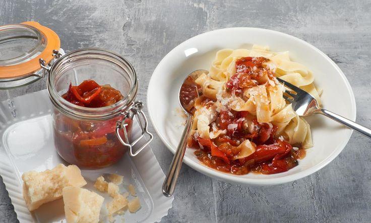 Tomaten-Paprika-Sugo Rezept   Dr. Oetker
