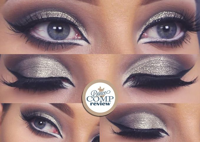 Glitter Cut Crease MakeUp Tutorial - Dance Comp Review