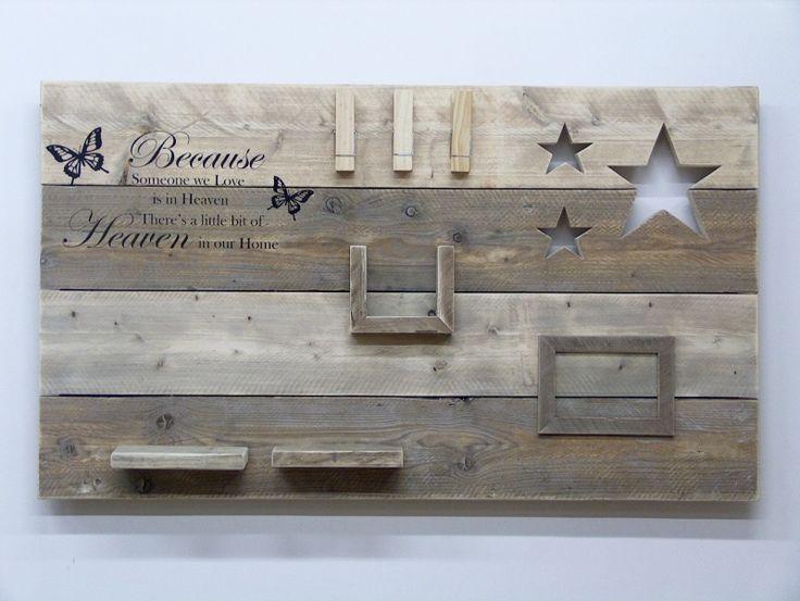 "Wanddecoratiebord ""Because someone we love"" afm: L135xH78cm"
