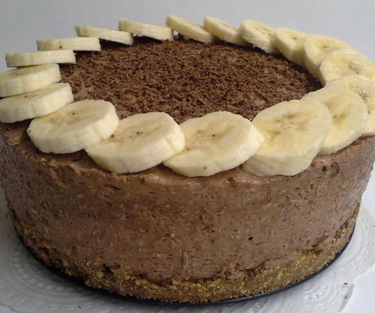 Nepečená čoko-banán-tvarohová tortička | Angie