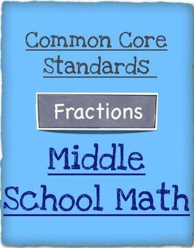 Common Core Math - Middle School Math - Grades 5 - 7