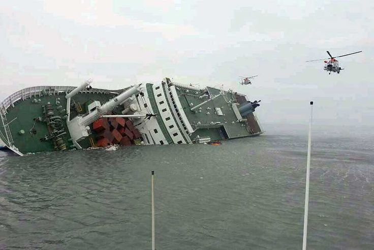 Rescue operations under way as the Sewol sinks. (AFP/Korean Coast Guard)