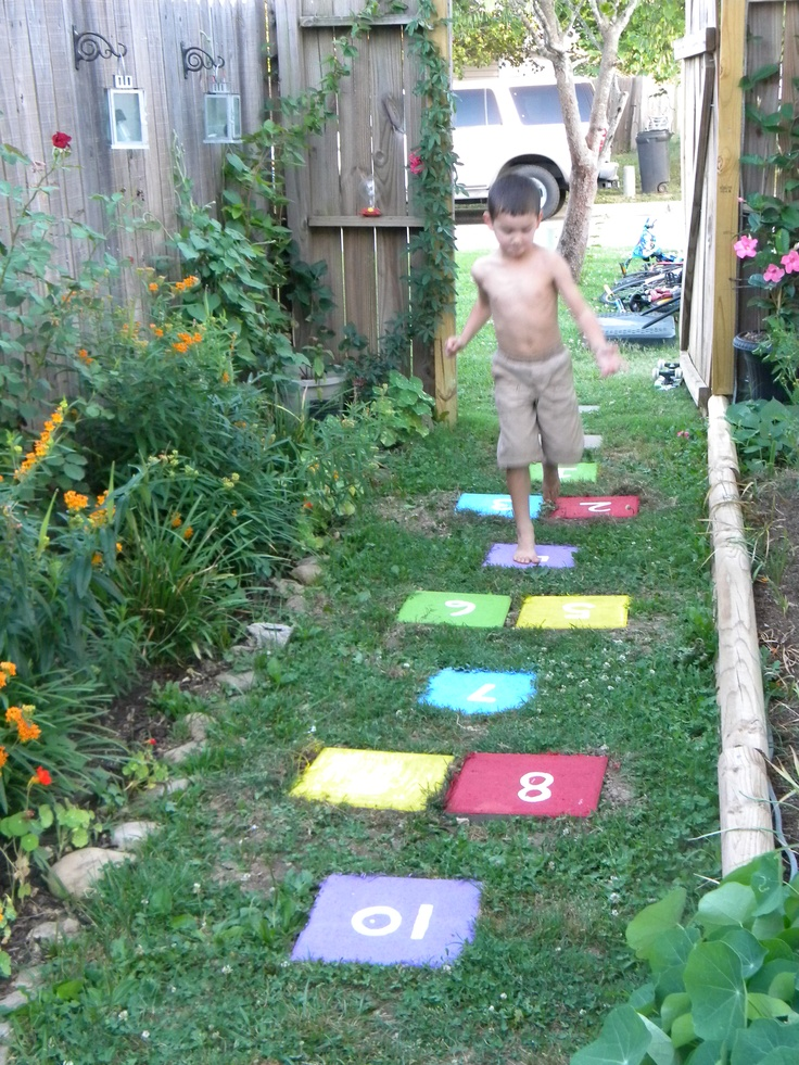 saw this yesterday on pinterest & made did it for free with supplies i had on hand. only had to add three stepping stones to existing path & the boys love it!Gorgeous Ground, Exist Paths, Ground Ahead, Living Easy, Kids Crafts, Gardens Gates, Outdoor Decor, Add Three, Step