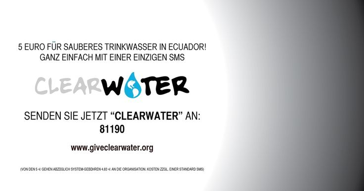 CLEARWATER ClearWater ist ein Gemeinschaftsprojekt mit dem Ziel, den indigenen Völkern im ecuadorianischen Amazonas-Gebiet Zugang zu sauberem, sicherem Trinkwasser zu ermöglichen. Diese Menschen leiden seit Jahrzehnten an einer gravierenden Ölpest, die...