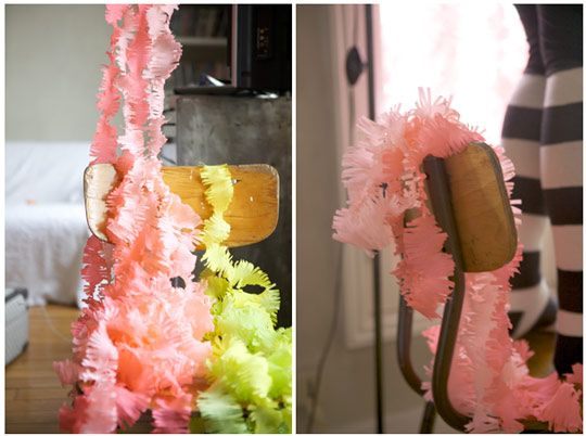 fringe streamers: Paper Garlands, Birthday Parties, Color, Homemade Decor, Parties Ideas, Parties Streamers, Crepes Paper Streamers, Diy Projects, Parties Decor