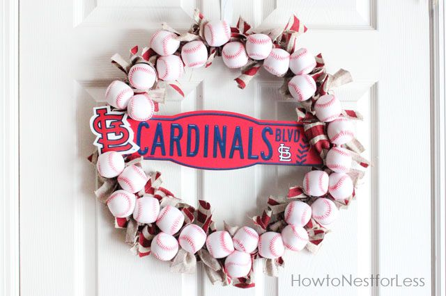 baseball wreathCardinals Wreaths, White Sox, Red Sox, Baseball Wreaths, Sports Wreaths, Louis Cardinals, Cardinals Baseball, Cards, Diy Baseball