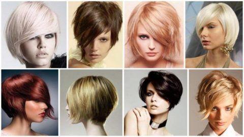 Женская стрижка «Лесенка» на короткие волосы: фото, вид ...