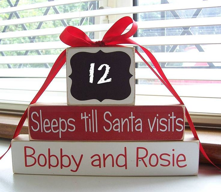 personalised 'sleeps 'till santa' blocks by bobby loves rosie | notonthehighstreet.com