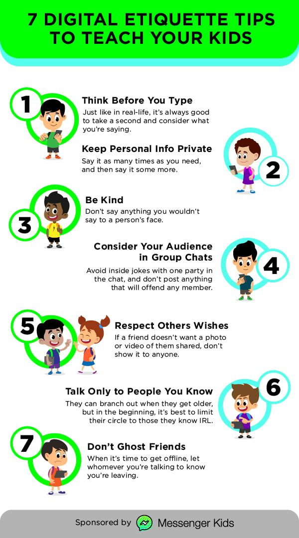 7 Digital Etiquette Tips To Teach Your Kids With Images