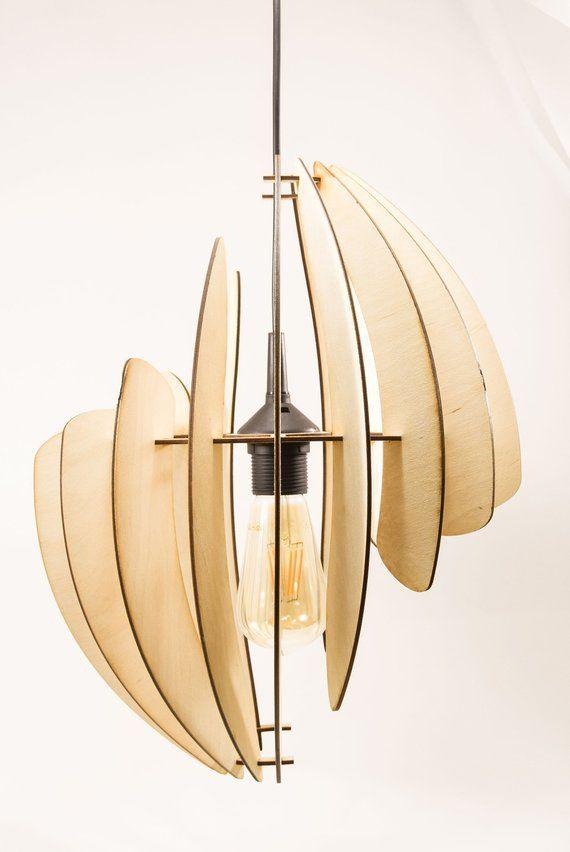 Wooden Lamp Shade Asma Lamba Aydinlatma Elemanlari Lazer Kesim