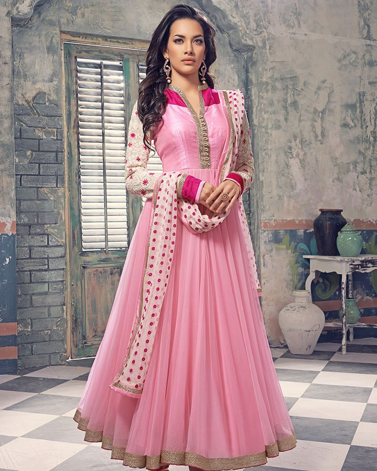 Palkhi Inc - Pink Floor Length Anarkali Suit (D0309), $260.00 (http://www.palkhi.com/pink-floor-length-anarkali-suit-d0309/)