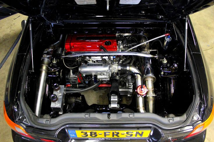 Honda Civic del Sol with a Mid-engine turbo B16