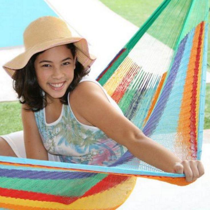 Outdoor Comfortable Durable Hand Made Double Mayan Hammock Multicolor #hammock