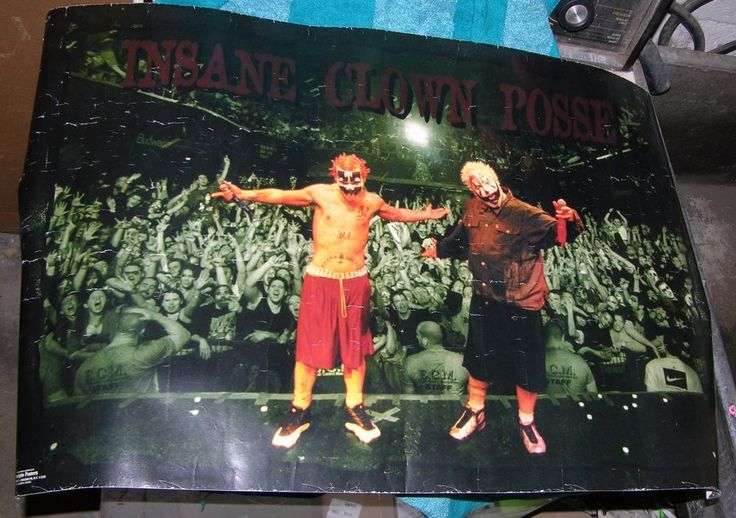 INSANE CLOWN POSSE POSTER 2000 ICP CONCERT CROWD HORROR HIP HOP ROCK CLOWNS
