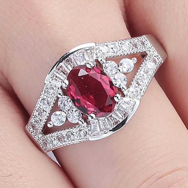 KRISTY'S PINK RUBY & DIAMONDS ENGAGEMENT PROMISE BAND