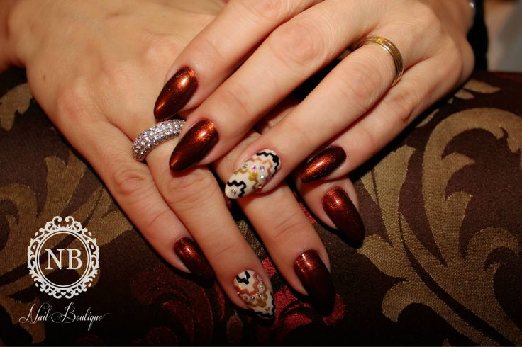 #brown#super#nails