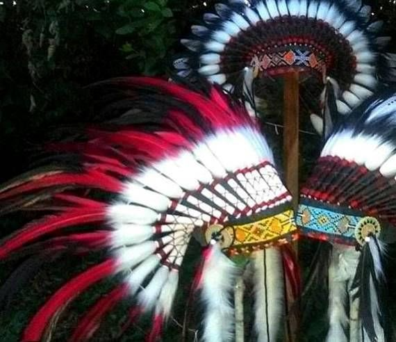 Feathers Indian Headdress replica warbonnet native american