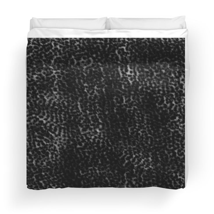 Wild black leopard print duvet-cover by Tracey Lee Art Designs