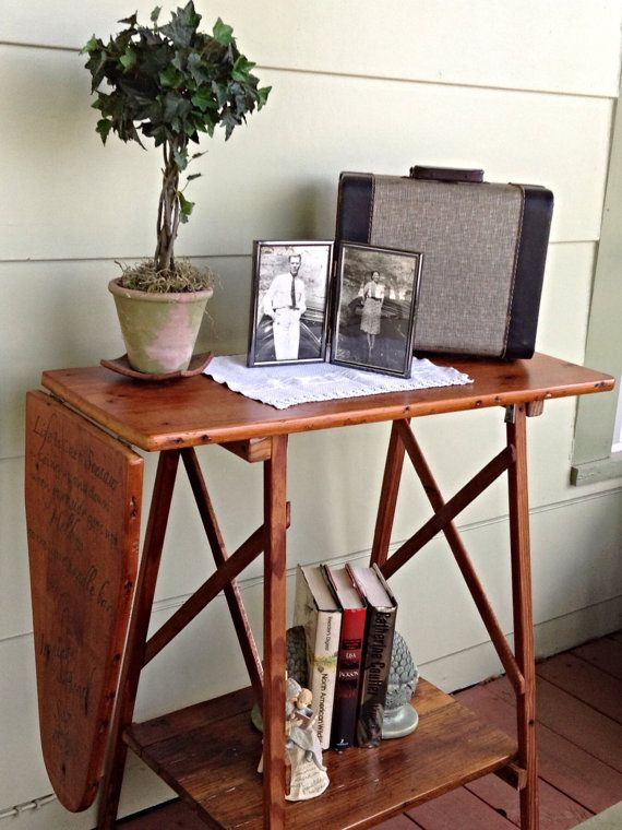 IIroning Board Wooden Shelf Stand With Hand by GrammyandGrampys