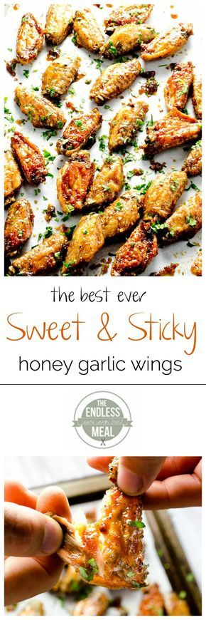 Sweet and Sticky Honey Garlic Chicken Wings