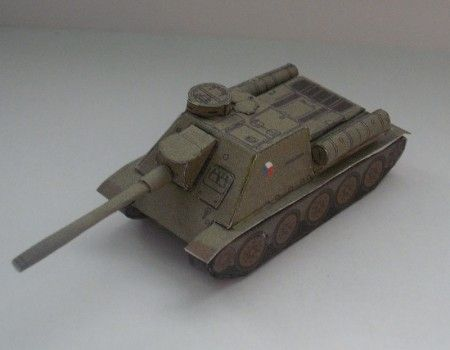 SU 100/made by Michal Tichý and Rawen   1:100