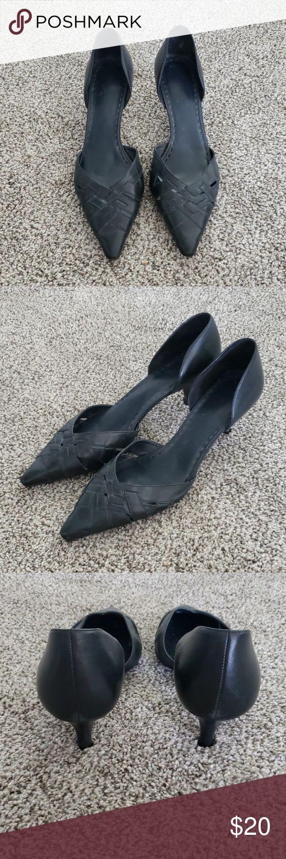 Black Heels Like new Pointed Toe Black Heels by Gianni Bini. 2″ Heel, easy to wa…