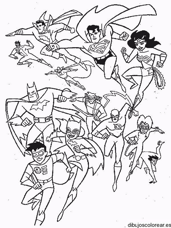 Dibujo con los superhéroes | Dibujos para Colorear