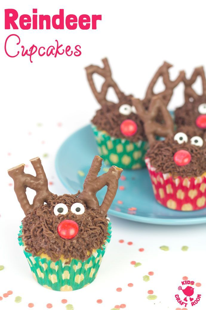 No one can resist these tasty and cute Reindeer Cupcakes. An easy Christmas recipe to get cooking with kids over the holidays. A fun festive family treat!