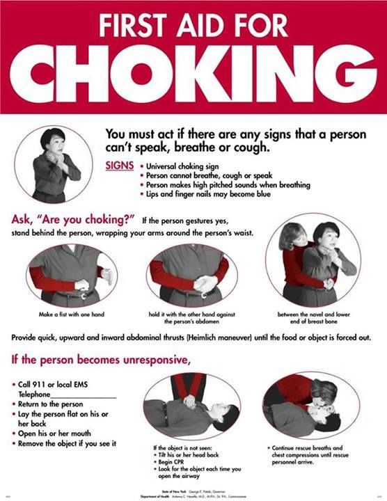 First Aid For Choking.  Seems pretty important!  #gattipharmacy #firstaid #TheASGproject