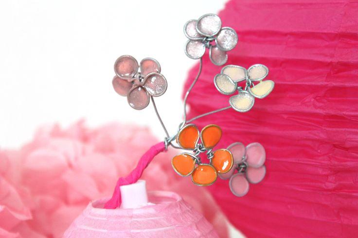 Tuto fleurs de cerisier en fil de fer et vernis à ongles