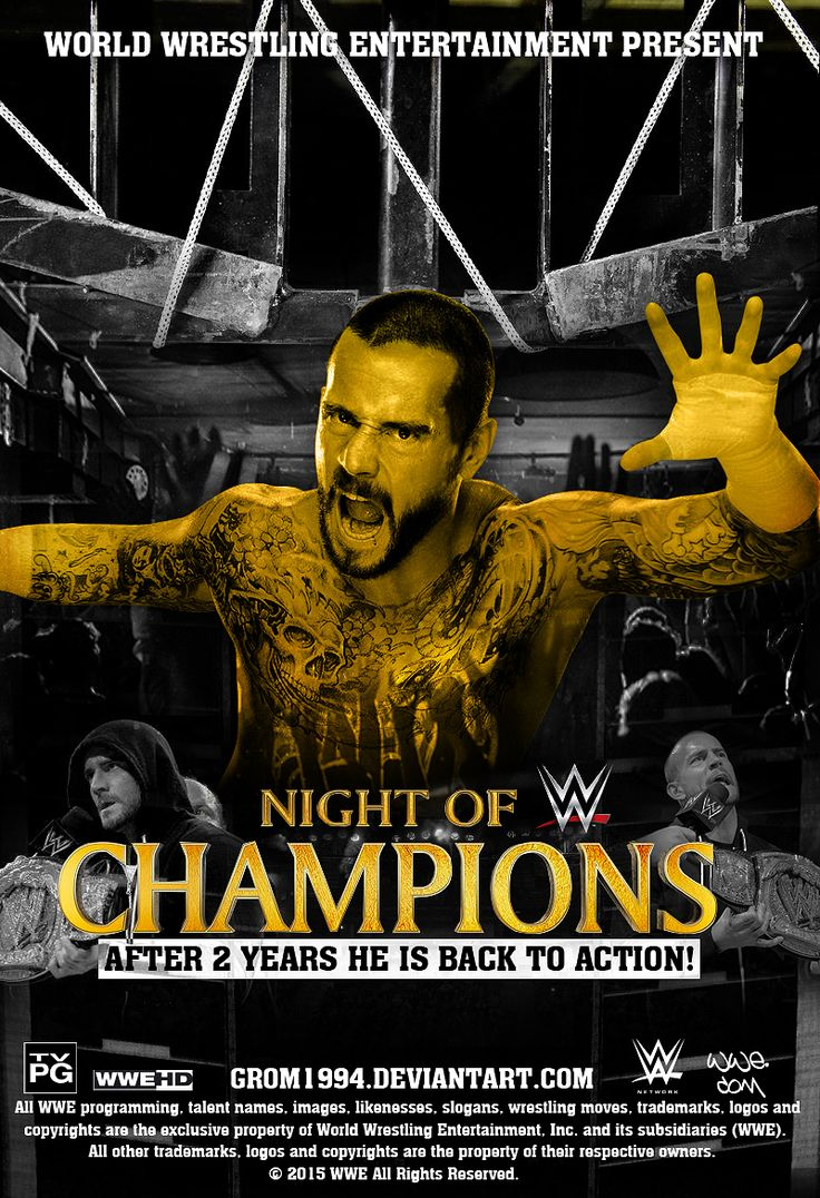 Cm punk surprising return in night of champions by grom1994
