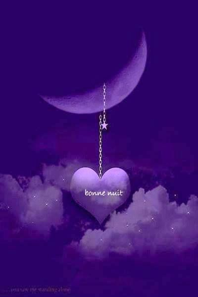 "THAT MEANS "" GOODNIGHT "" IN MY PURPLE WORLD. WHERE THE NIGHTS ARE NOT ONLY PURPLE, BUT PLEASANT !!!!"