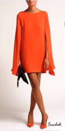 El vestido de moda: vestido con mangas capa