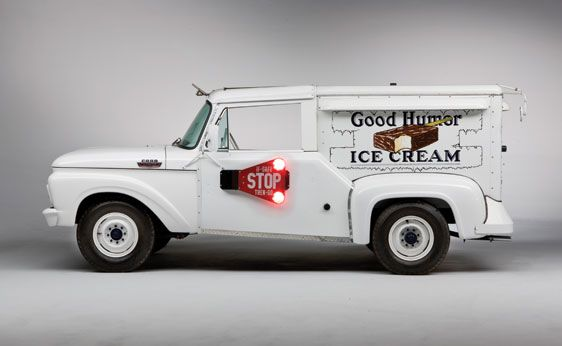 1965 Ford Good Humor Ice Cream Truck side..This is what I remember...... :)