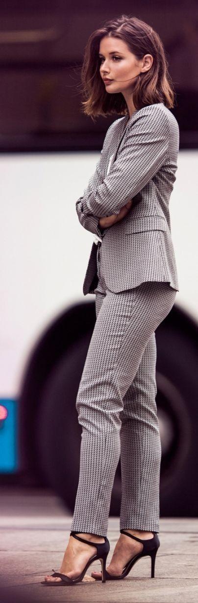 Grey Pinstripe Suit                                                                             Source