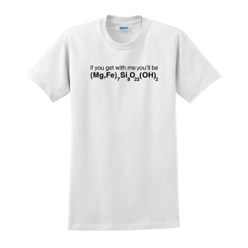 If You Get With Me Youll Be Cummingtonite Short Sleeve T-Shirt Cummingtonight Funny Geology Geologist Science Humor Earth Rock Mineral Pun Reddit T-Shirt Small White
