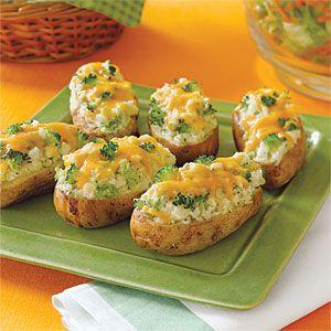 Broccoli-and- Cheese-Stuffed Baked Potatoes Recipe