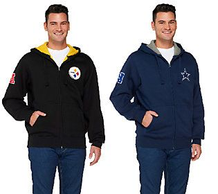 NFL Team Colors Fully Lined Sherpa Zip Up Hoodie