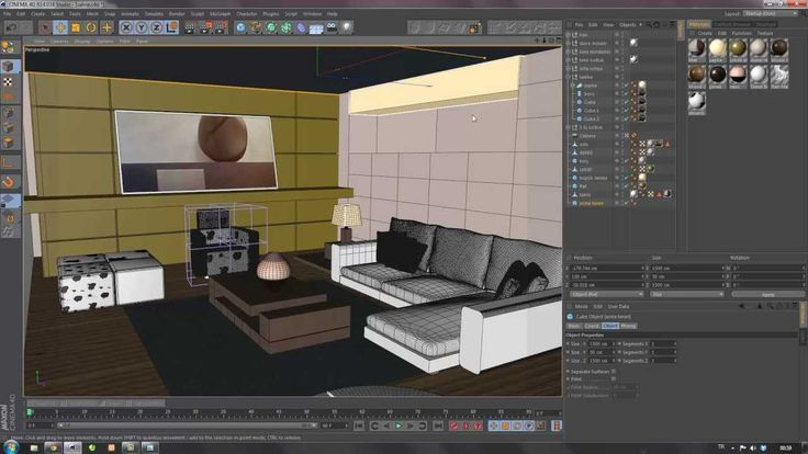 Cinema 4D Tutorial 13 | Iç Mekan Modelleme 2 (Modelling of Indoor)