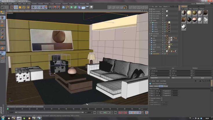 Cinema 4D Tutorial 13 | Iç Mekan Modelleme 2 (Modelling of Indoor)