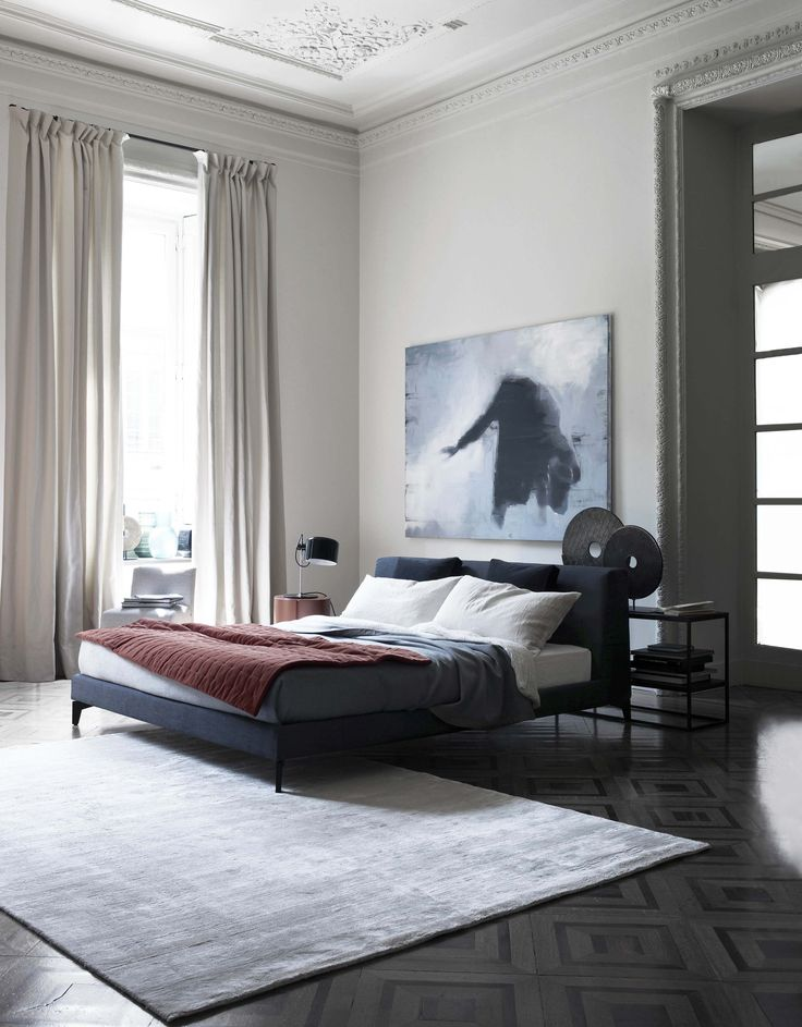 MERIDIANI I LOUIS UP Bed I LALIT Rug · Masculine BedroomsModern  BedroomsBedroom Reading NooksBedroom StylesBedroom DesignsBedroom ...