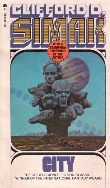 MICHAEL WHELAN - art for City by Clifford D. Simak - 1976 Ace Books