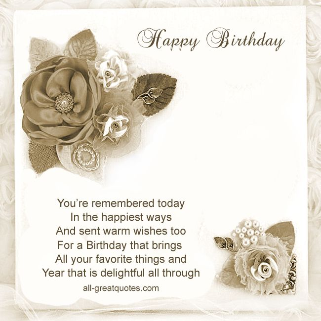 Today Is Your Free Happy Birthday Ecards Greeting: Happy Birthday You're Remembered Today In The Happiest