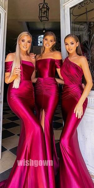 Mismatched Mermaid Long Bridesmaid Dresses YPS101