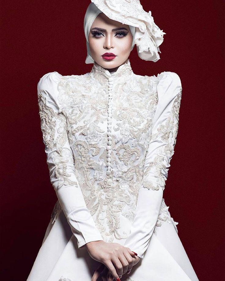 muslimweddingideas♥ The dress, the details! ♥  Stunning photo of the gorgeous @asmaa_galal ♥ Make up by @nahla_esssm ♥