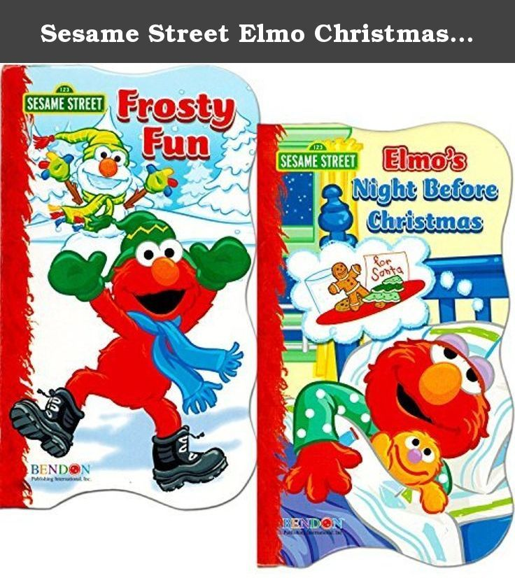 "Sesame Street Elmo Christmas Board Book Set For Kids Toddlers (Set of 2 Board Books). Sesame Street Elmo and Rudolph Christmas board books set for kids and toddlers, featuring Elmo in ""Frosty Fun"" and Rudolph the Red-Nosed Reindeer in ""Rudolph Help Out."" Colorfully illustrated Sesame Street Elmo Board Books join Elmo as he prepares for the holidays. The perfect book to teach the concept of Christmas -- all taught by Elmo and Rudolph! Sesame Street Elmo and Rudolph board books for toddlers..."