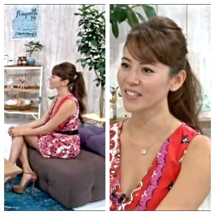 Bangs And Ponytail Hairstyle On Model Jessica Michibata